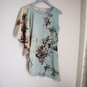 Johnny Was silk floral blouse